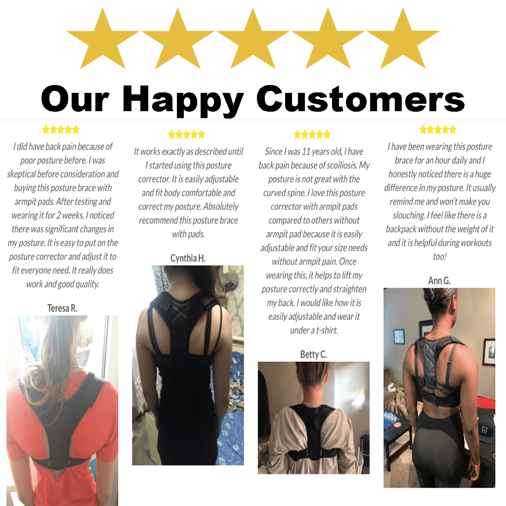 AAROND Posture Corrector for Men and Women Effective Comfortable Adjustable Posture Correct Support Back Brace for Perfect Posture