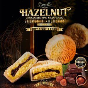 Golden Moments Docello Hazelnut Chocolate Mao Shan Wang Durian Snowskin Mooncake