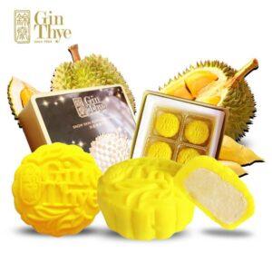 Gin Thye Premium Durian Yellow Snowskin Mooncake