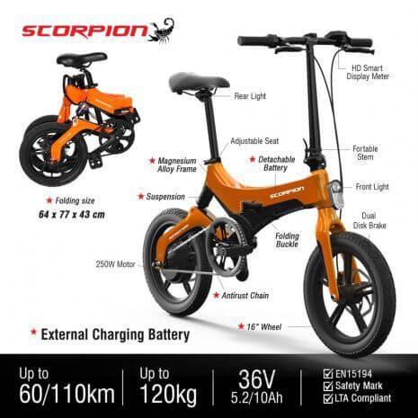 Scorpion Foldable E-bike Singapore